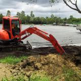 10 February 2015 - Digging footings for catch net