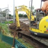 22 January 2015 - Digging the Main Drainage Outlet