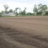 11 January 2015 - Trimming of the stabilisation layer is complete - Field 2. Drainage will commence when weather fines up!