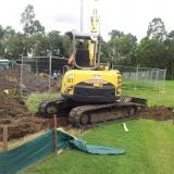 22 January 2015 - Trench for the Main Drainage Outlet